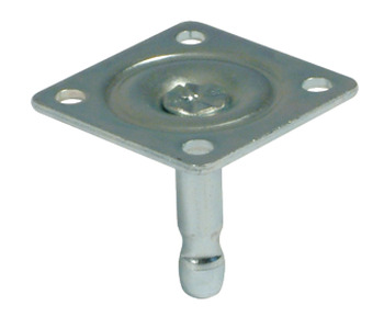 Pin for Castors, Ø 8 mm, with 40 mm Mounting Plate