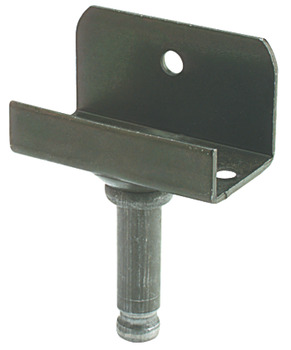 Pin for Castors, Ø 8 mm, with L Mounting Plate