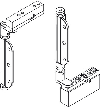 Pivot Assembly Set, Mortice, for Folding Patio Doors, Slido Fold