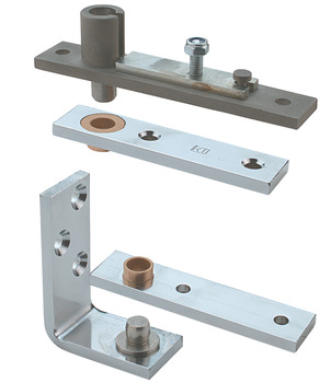Pivot Set, Double Action, Frame Mounted, Grade 304 Stainless Steel