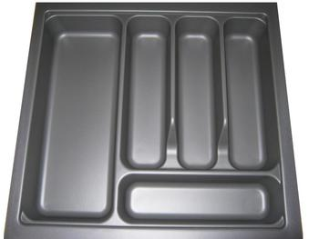 Plastic Cutlery Insert, Depth 431mm, Slate Grey, to Suit Matrix Box A Drawer Systems