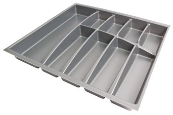 Plastic Cutlery Insert, Depths 423/473 mm, for Cabinet Widths 400-1000 mm, Anthracite