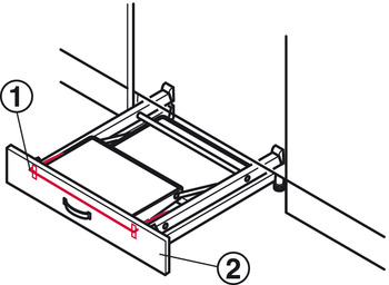Plinth Bracket, for Stepfix Step Stool with Fixing Plates