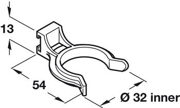 Plinth Clip, for use with Plinth Bracket