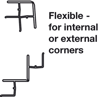 Plinth Connector, Flexible, for Use with PVC Plinth Panel