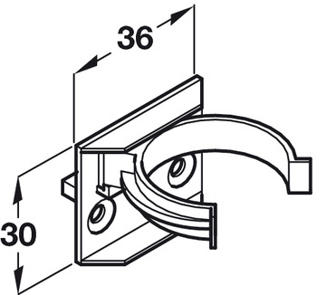 Plinth Panel Clip, for Connecting Panel to Foot, Press and Screw Fixing