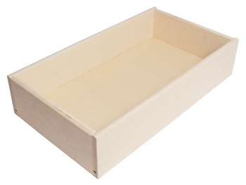 Plywood Drawer, Height 90-140 mm, Flat Packed with Lacquered MDF Base