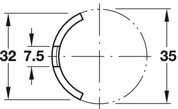 Pressure Plate, for Confirmat Connector