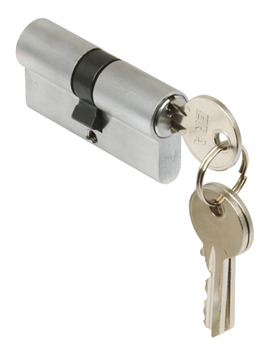 Profile Cylinder, Double, Key Only Operation, Both Sides, Brass