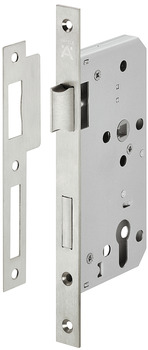 Profile Cylinder Lock, Mortice, 72 mm Locking Centres, Stainless Steel, Startec