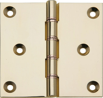 Projection Butt Hinge, DPBW, 75 x 75 mm, Brass