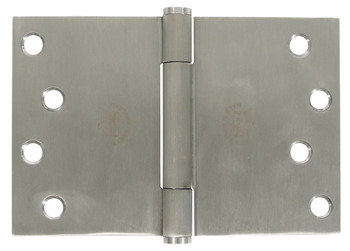 Projection Butt Hinge, Traditional Bearing, 3 Knuckle, 102 x 152 mm, 304 Stainless Steel