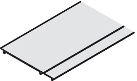 Protective Cover Profile, for Sliding Glass Interior Doors, Eku-Porta 100 GWF