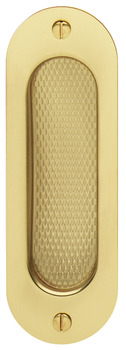Pull Handle, Flush, 120 x 40 mm, Brass
