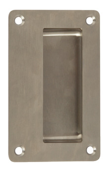 Pull Handle, Flush, Anti-Ligature, Solid Stainless Steel