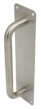 Pull Handle, on Plate, Ø 19 mm, Stainless Steel