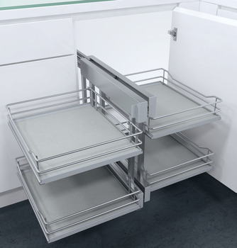 Pull Out Corner Unit, Complete Set, Premea Solid Base Baskets, Vauth-Sagel VS COR Flex