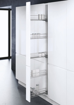 Pull Out Larder Unit, with Baskets for Cabinet Width 150 mm, Vauth-Sagel VS TAL WIRO