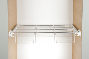 Pull Out Rack, 6 Shoe Trays, Aluminium and Plastic, System Plus