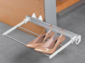 Pull Out Shoe Rack, Folding, Aluminium and Plastic