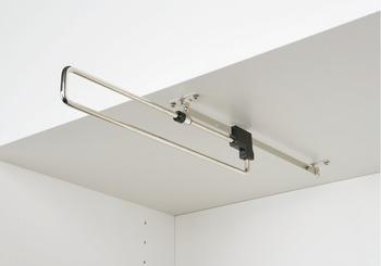 Pull-Out Wardrobe Rail, Length 260-460 mm, Load Capacity 3-8 kg