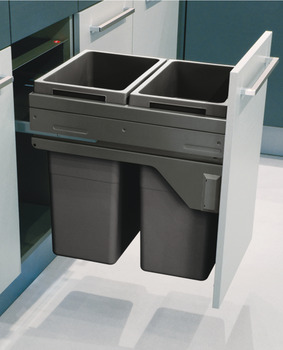 Pull Out Waste Bin, for Cabinet Width 450 & 500 mm, Hailo Euro Cargo