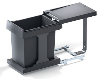 Pull Out Waste Bin, 20 litres, Hailo Solo 3635-01