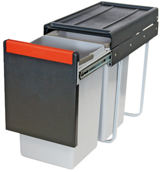 Pull Out Waste Bin, 2x 15 Litres, Cube 30