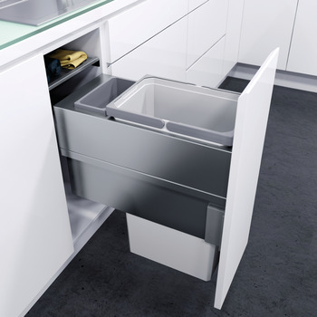 Pull Out Waste Bin, For Cabinet Width 300 mm, Vauth-Sagel VS ENVI Space XX Pro