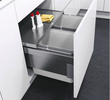 Pull Out Waste Bin, For Cabinet Width 500 mm, Vauth-Sagel VS ENVI Space Pro