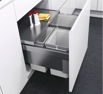 Pull Out Waste Bin, for Cabinet Width 600 mm, Vauth-Sagel VS ENVI Space Pro