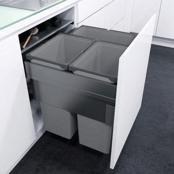 Pull Out Waste Bin, For Cabinet Width 600 mm, Vauth-Sagel VS ENVI Space XX Pro