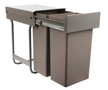 Pull Out Waste Bin, for Hinged Door Cabinet Width 450 mm, Waste Boss Duo