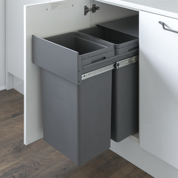 Pull Out Waste Bin, for Hinged Door Cabinet Width Min. 400 ...