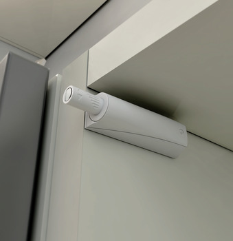 Push Door Catch, Concealed or Surface Mounted, Long Version, with Buffer, K Push Tech