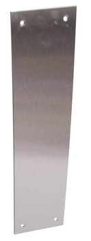 Push Plate, Square Corners, 300 x 75 mm, Stainless Steel