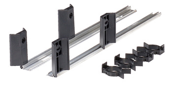 Rails with Clips, for Behind Plinth Drawer Fitting