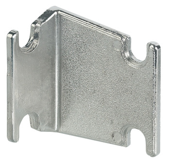 Rear Panel Bracket, Zinc alloy, for System Varianta 32 Ø 5 mm Series-Drilled Holes