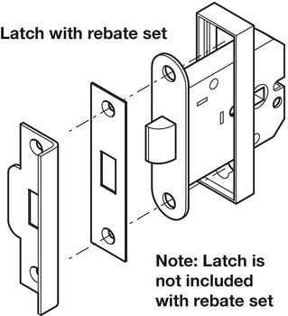 Rebate Set, for Mortice Box Latches, Aluminium