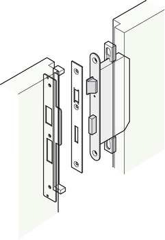 Rebate Set, for Standard Continental Style Locks and Latches