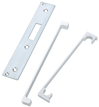 Rebate Set, for Standard Mortice Deadlock, Steel with Aluminium Guard