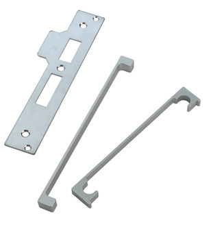 Rebate Set, for Standard Mortice Latch, Bathroom Lock and Sashlock, Steel with Aluminium Guard