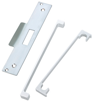 Rebate Set, for Standard Mortice Night Latch, Steel with Aluminium Guard