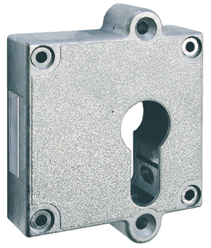 Rim Lock, Housing with Aperture for Profile Cylinder, Universal