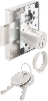 Rim Lock, with Ø 22 mm Cylinder, 40 mm Backset
