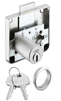 Rim Lock, with Extended Cylinder Ø 18 mm, for Screw Fixing