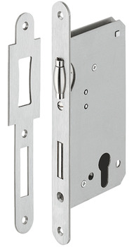 Roller Bolt Latch, with Deadbolt, Mortice, for Flush Wooden Doors, Stainless Steel