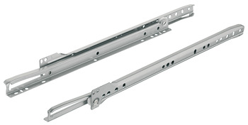 Roller Drawer Runners, Single Extension, Load Capacity 17 - 20 kg, Plastic Coated Steel