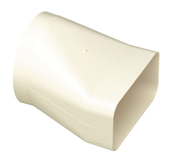 Round Pipe, to Flat Duct Convertor, Flame Retardant, White