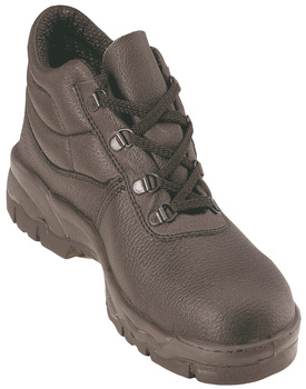 Safety Boots, D-Ring, Black Leather Upper, Click Chukka